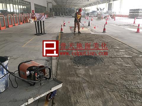修补剂修复破烂水泥地坪工艺3