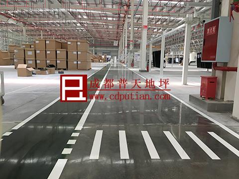 厂房车间地坪设计与施工之固化剂地坪