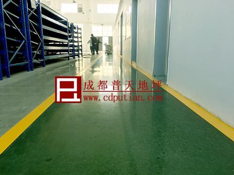 车间混凝土固化剂染色地坪3